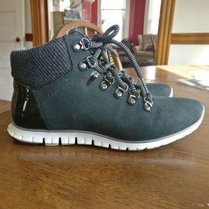 Cole Haan Zerogrand Hiker Boots, Black Nubuck